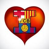 I love footbal club barcelona. Royalty Free Stock Images