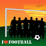 I Love Football. Vector illustration of a football team Royalty Free Stock Images