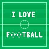 I Love football4 Royalty Free Stock Photography