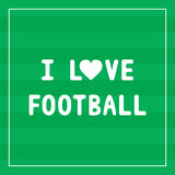 I Love football3 Royalty Free Stock Images