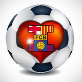 I love football club barcelona. Royalty Free Stock Photos