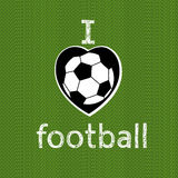 I love football. Vector illustration. Stock Image