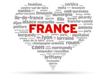 I Love France vector illustration