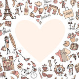 I love France. Sketch for your design Royalty Free Stock Image