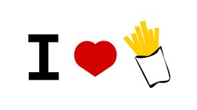 I love french fries Royalty Free Stock Photos