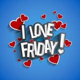 I Love Friday Royalty Free Stock Photos