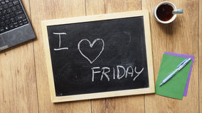 I love friday Royalty Free Stock Images