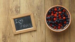 I love fruit Stock Photography