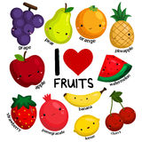 I love fruits (no background) Stock Image