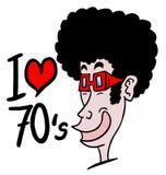 I love 1970. Funny design of love 1970 Stock Image