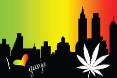 I love ganja city Royalty Free Stock Image