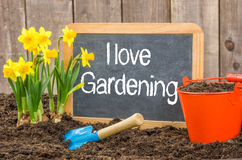 I love gardening Royalty Free Stock Photo