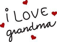 I Love Grandma Royalty Free Stock Photography