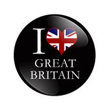 I Love Great Britain button Royalty Free Stock Photography