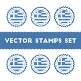 I Love Greece vector stamps set. Royalty Free Stock Photos