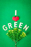 I love green. Save world concept Stock Photo