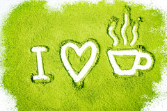 I love green tea Stock Images