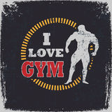 I Love Gym Royalty Free Stock Photography