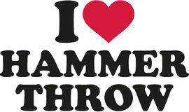 I Love Hammer Throw Royalty Free Stock Photos