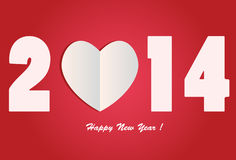 I Love 2014 - Happy New year. The year of Love, symbol for new year and also valentine date. I love 2014 Stock Photo