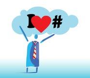 I Love Hashtags Royalty Free Stock Photography