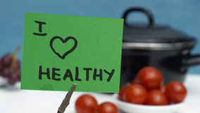 I love healthy Stock Image
