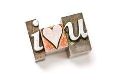 I Love (Heart) You Royalty Free Stock Photos
