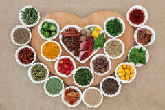 I Love Herbs and Spices Stock Images