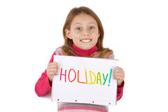 I love Holiday every day Royalty Free Stock Photos