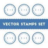 I Love Honduras vector stamps set. Retro patriotic country flag badges. National flags vintage round signs Royalty Free Stock Photos