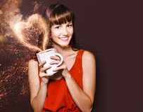 I Love Hot Coffee Stock Image