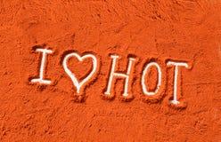 I love hot Stock Image