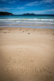 I Love Ilha Grande, Lopes Mendes, Beach. Incredible paradise. Br Stock Photo