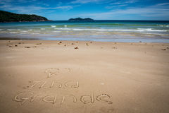 I Love Ilha Grande, Lopes Mendes, Beach. Incredible paradise. Br Stock Photos