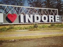 I love InDoRe. Best Place Of Indore  Where You Can Click Pictures Stock Images