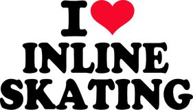 I love inline skating. Vector vector Royalty Free Stock Images