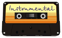 I love inscrumental music. Instrumental music on retro audio cassette Royalty Free Stock Photos