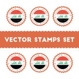 I Love Iraq vector stamps set. Stock Photography