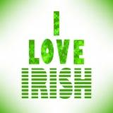 I love irish Royalty Free Stock Photos