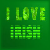 I love irish Royalty Free Stock Image