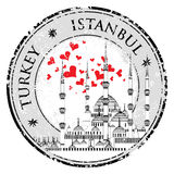 I Love Istanbul Design stamp vector The Blue Mosque, Stock Photos