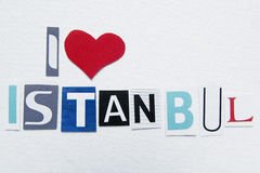 I love istanbul sign Royalty Free Stock Images