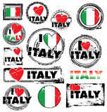 I Love Italy Ink Rubber Stamp Royalty Free Stock Image