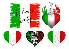 I love italy set Stock Image