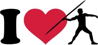 I love javelin thrower Royalty Free Stock Image