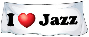 I love Jazz. Banner on the wall Royalty Free Stock Photography
