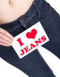I love jeans Stock Photos