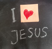 I Love Jesus Royalty Free Stock Images