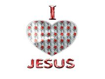 I love Jesus with christmas decoration Royalty Free Stock Photography