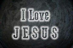 I Love Jesus Concept Stock Images